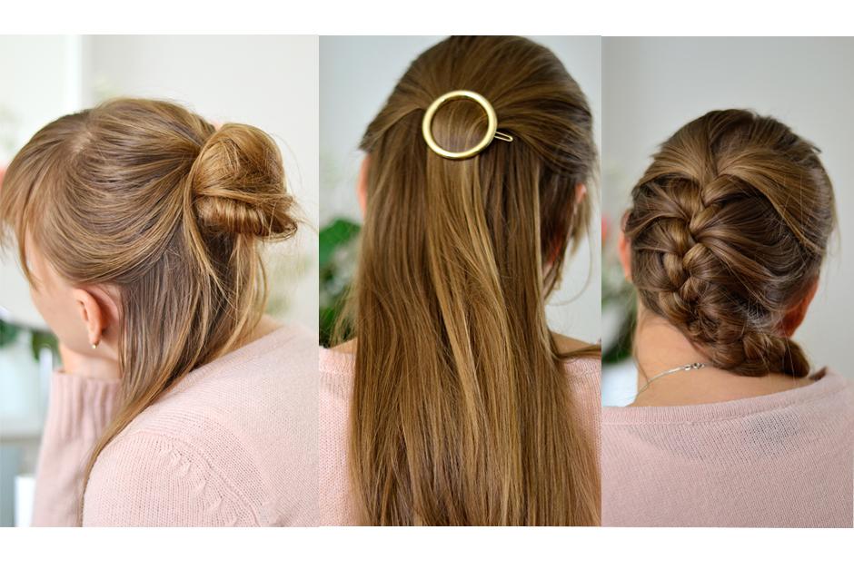 3 Schnelle Uni Frisuren